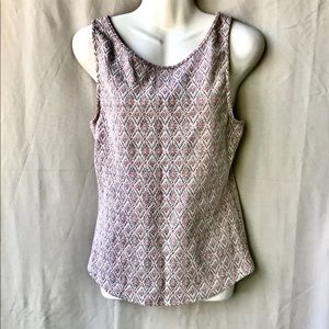 Free People Tank w Laced Back Cut Out, Size Large